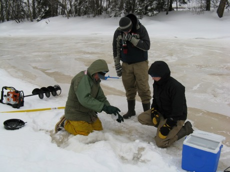 MREAC staff continue to sample during the winter months