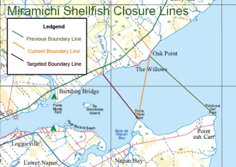 Miramichi Shellfish Closure Lines